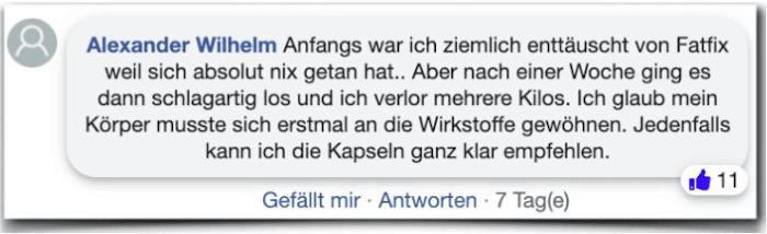 Fatfix Erfahrungsberichte Erfahrung facebook