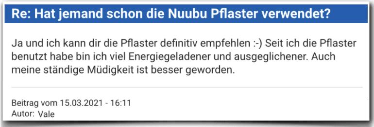 Nuubu Erfahrungsbericht Bewertung Erfahrungen Nuubu Pflaster