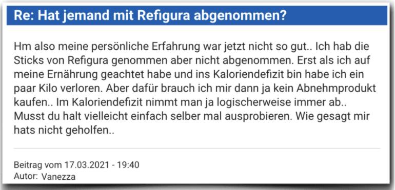 Refigura Erfahrungsbericht Bewertung Kritik Refigura