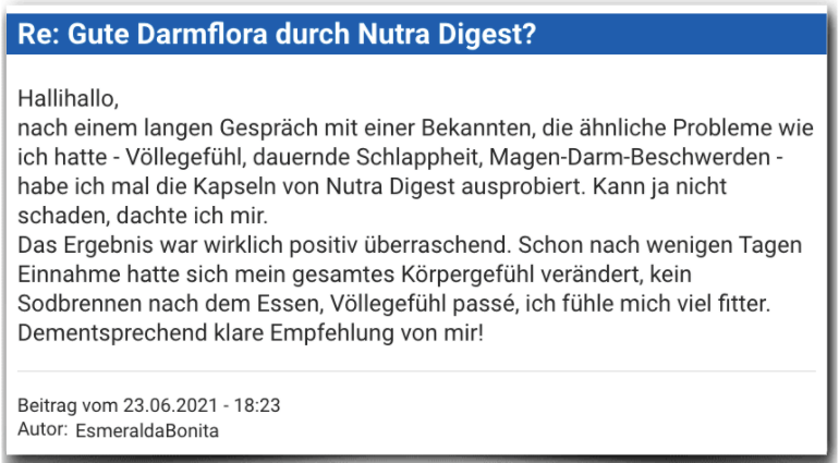 Nutra Digest Erfahrungsbericht Bewertung Erfahrungen Nutra Digest