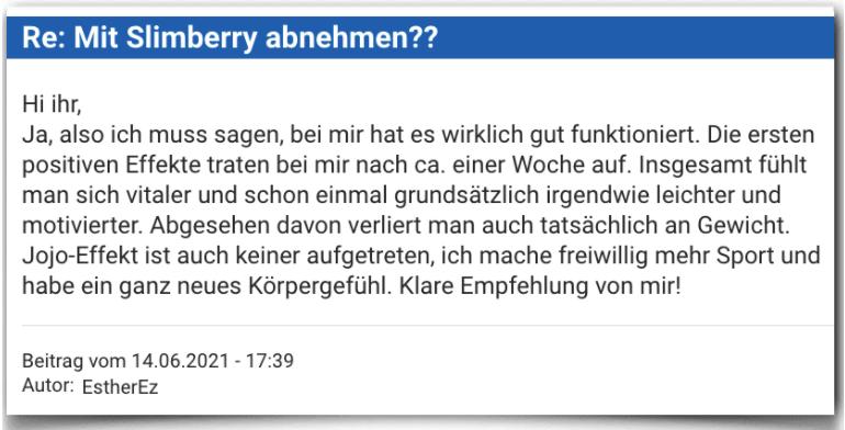 Slimberry Erfahrungsbericht Bewertung Erfahrungen Slimberry