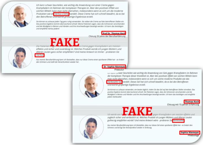 Varikosette Fake Expertenbericht