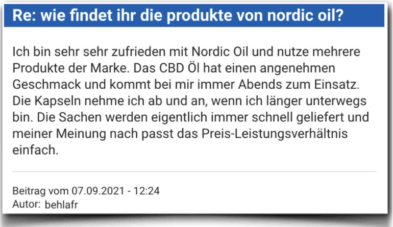 Nordic Oil Erfahrung Erfahrungen Erfahrungsbericht